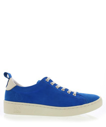 blue suede classic sneakers