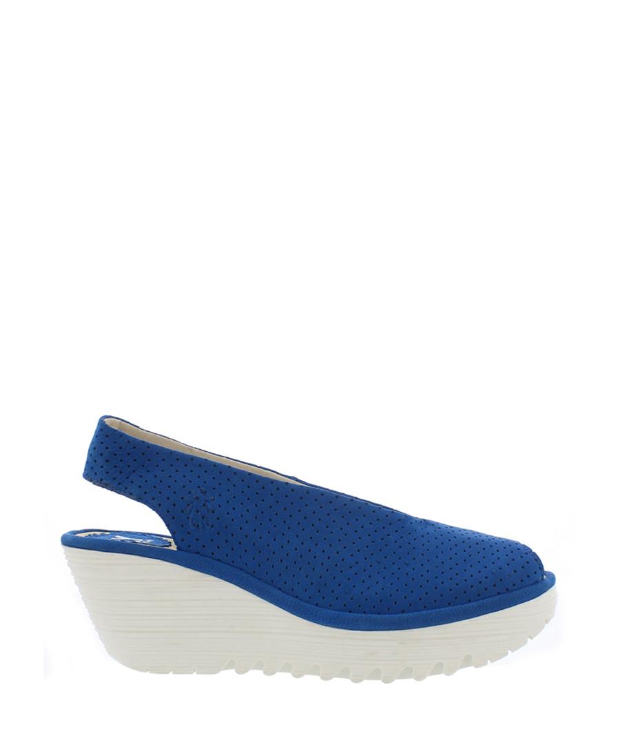 blue suede slingbag wedges Sale - fly london
