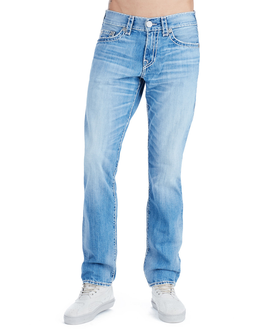 Geno ice blue pure cotton slim jeans Sale - true religion