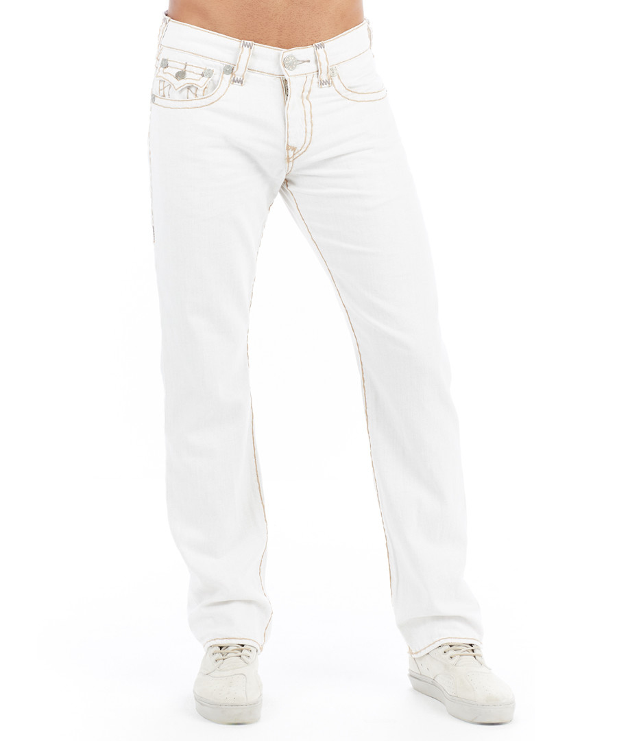 Ricky white light cotton relaxed jeans Sale - true religion