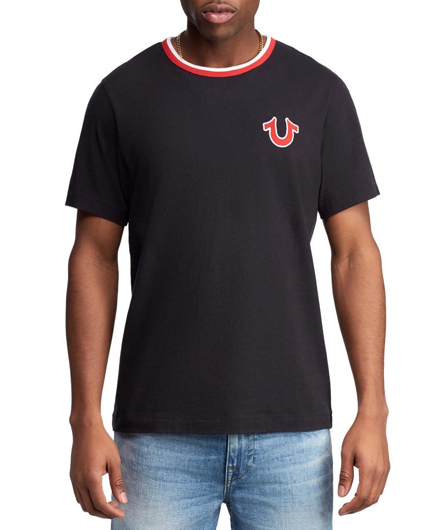 Black pure cotton graphic T-shirt Sale - true religion