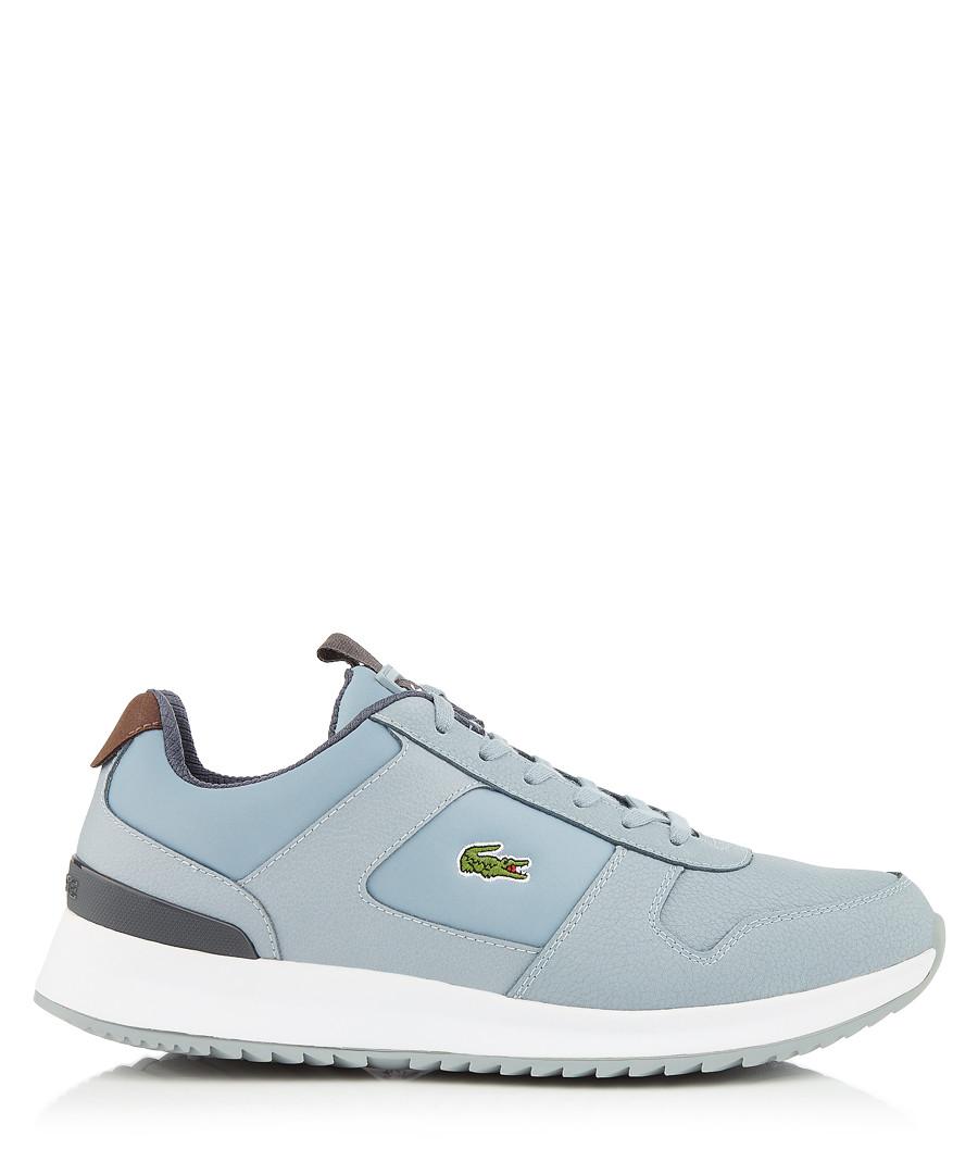 Grey leather logo sneakers Sale - lacoste