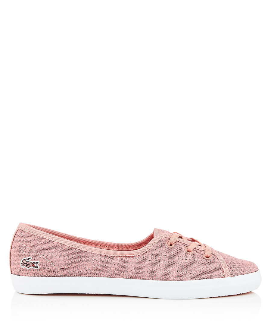Pink & white low-top sneakers Sale - lacoste
