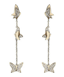 Butterfly Vine gold-plated earrings