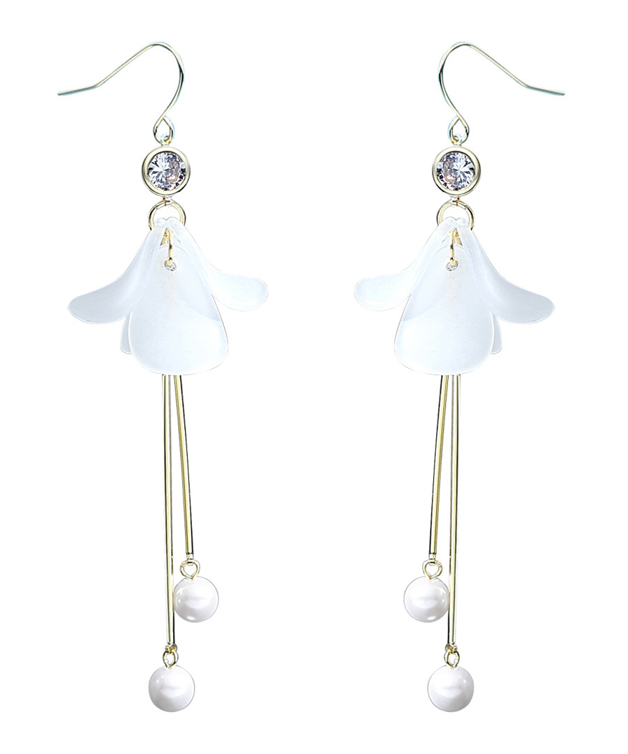 Lonely Petals gold-plated earrings Sale - caromay