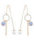 Modern Rhythm blue pearl earrings Sale - caromay Sale