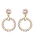 Beads Of Dew glass pearl hoop earrings Sale - caromay Sale