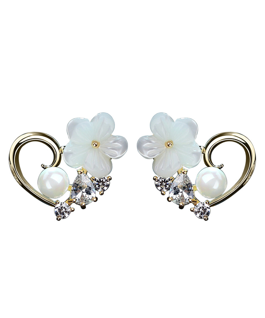 Palace Glam gold-plated flower earrings Sale - caromay