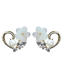 Palace Glam gold-plated flower earrings
