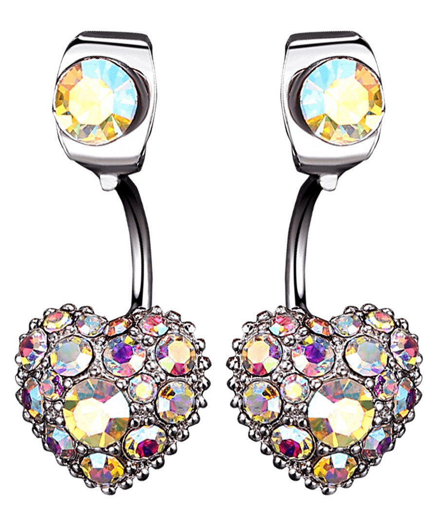 Brilliant Heart iridescent earrings Sale - caromay