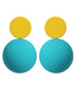 Candy Ball yellow & blue disc earrings Sale - caromay Sale
