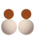 Candy Ball cream & khaki disc earrings Sale - caromay Sale
