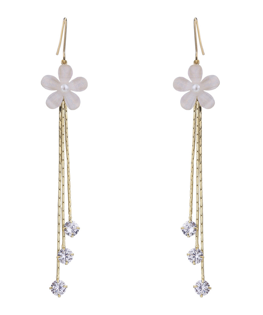 Past Memory gold-plated earrings Sale - caromay