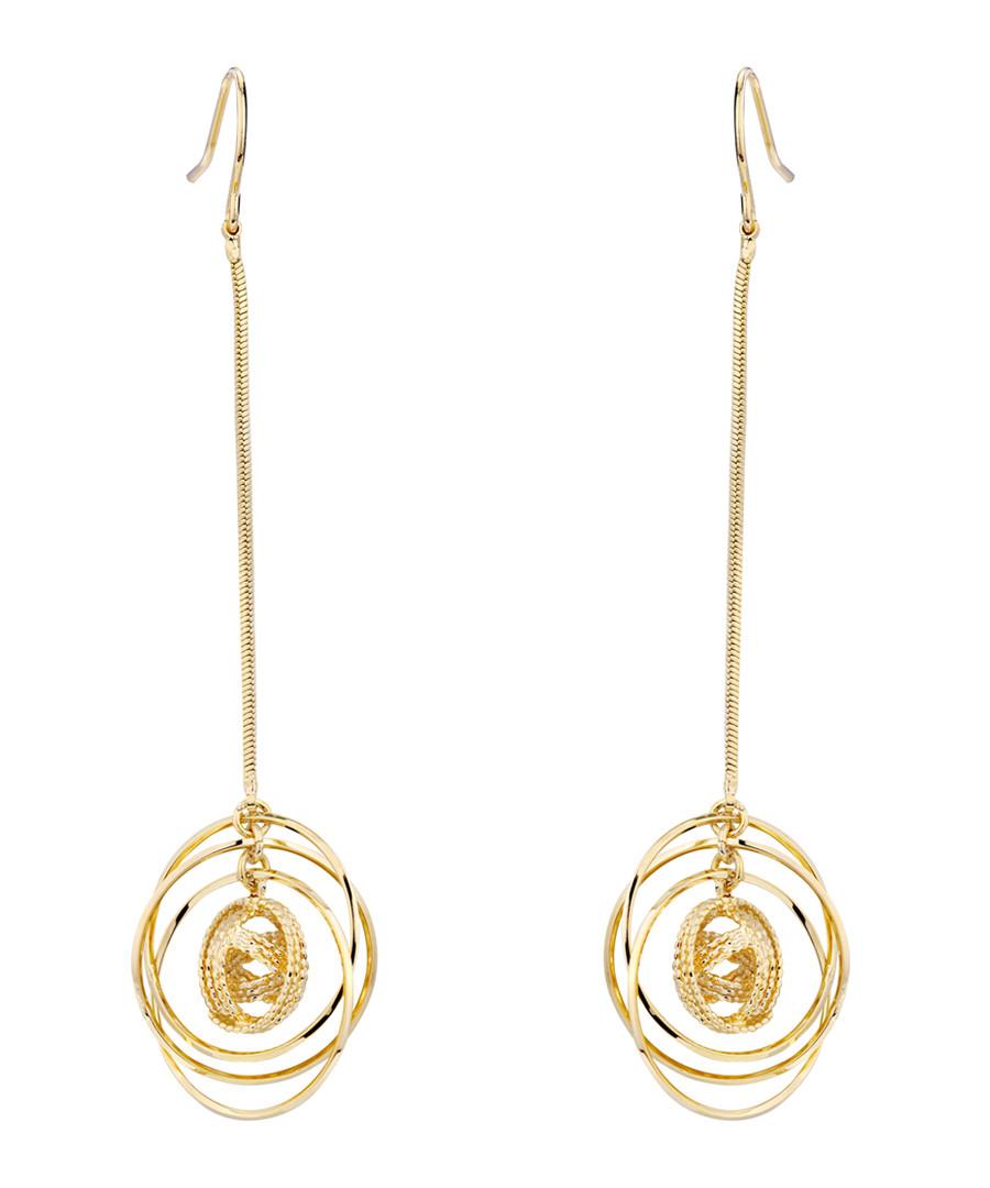 Tornado gold-plated drop earrings Sale - caromay