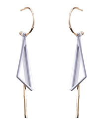 Career Way grey triangular earrings