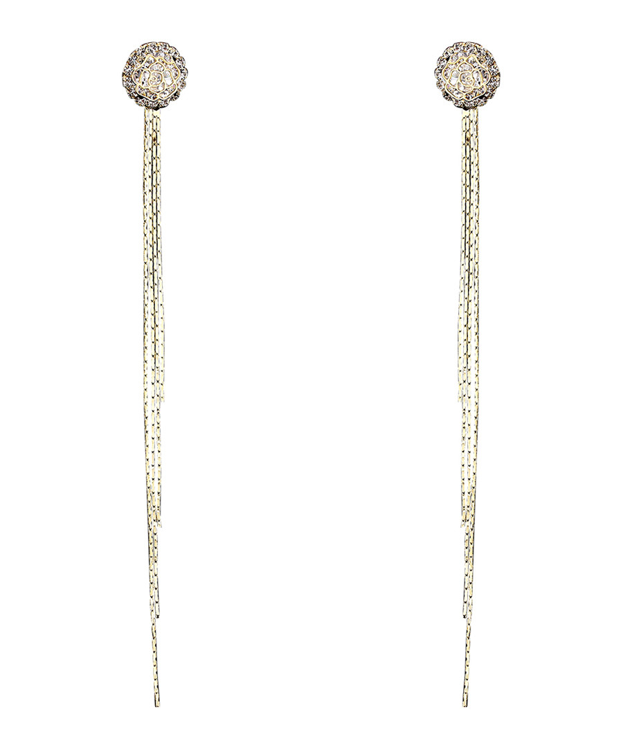 Winding Mind gold-plated drop earrings Sale - caromay