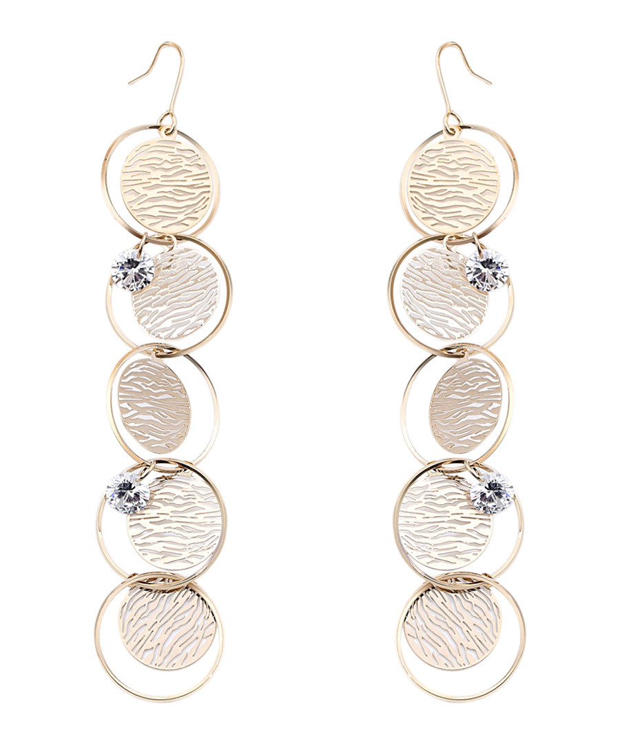 Captivation gold-plated disc earrings Sale - caromay