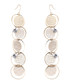 Captivation gold-plated disc earrings Sale - caromay Sale