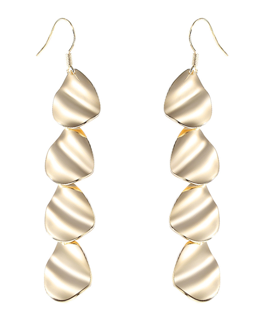 Slow Down gold-plated earrings Sale - caromay