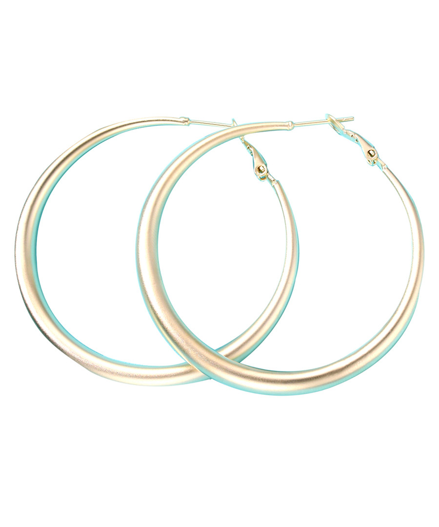 Halo gold-plated hoop earrings Sale - caromay