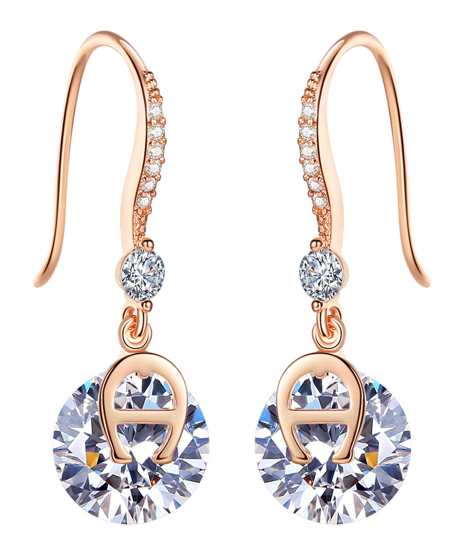 One Love rose gold-plated earrings Sale - caromay