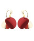 Relator red gold-plated earrings Sale - caromay Sale