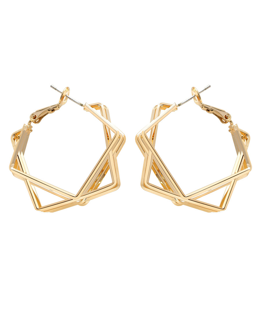 Thunder gold-plated hoop earrings Sale - caromay
