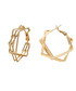 Thunder gold-plated hoop earrings Sale - caromay Sale