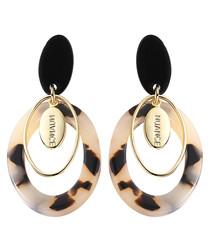 Nuance tortoiseshell earrings
