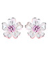Forget-Me-Not pink crystal earrings Sale - caromay Sale
