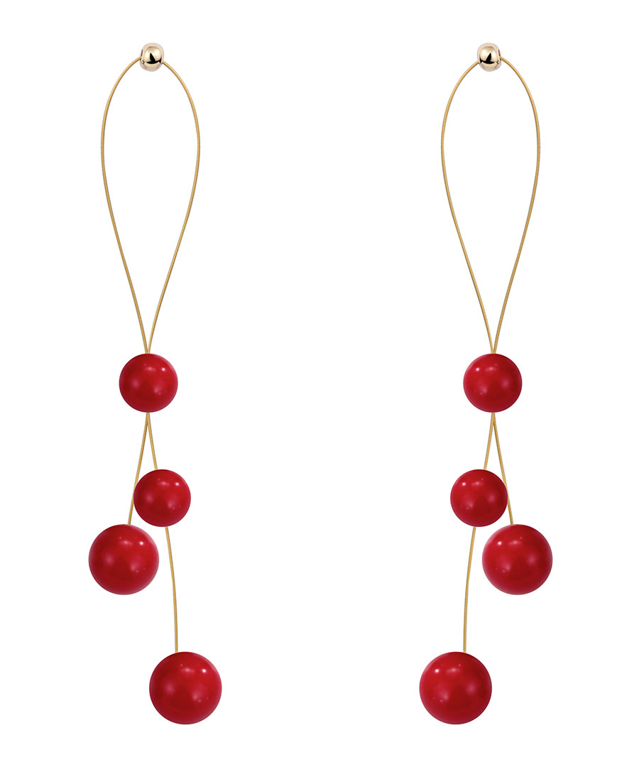 Shades Of Red droplet earrings Sale - caromay
