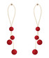 Shades Of Red droplet earrings Sale - caromay Sale
