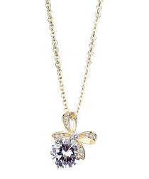 Special Gift gold-plated bow necklace