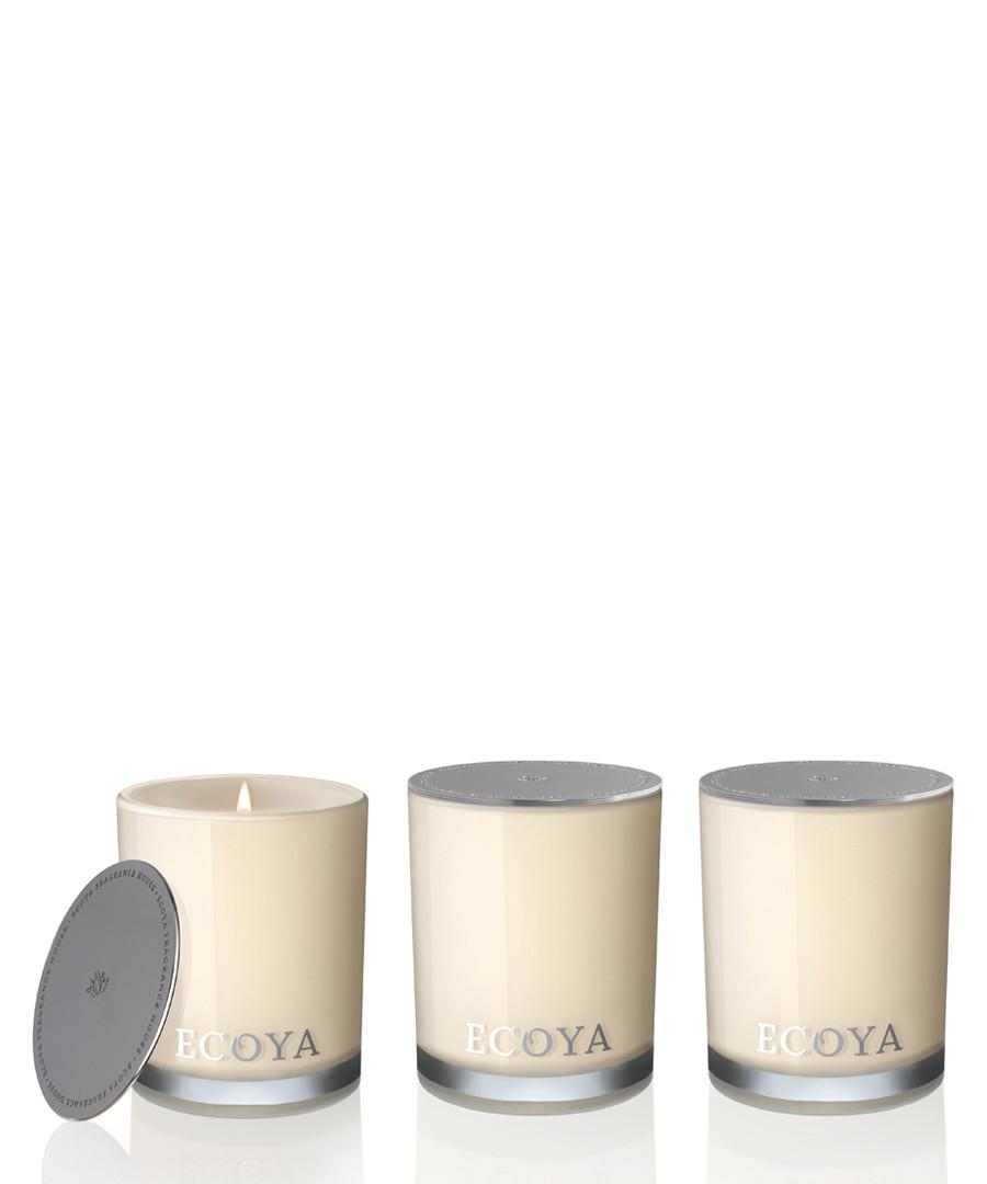 3pc Mini Madison lotus flower candle set Sale - ecoya