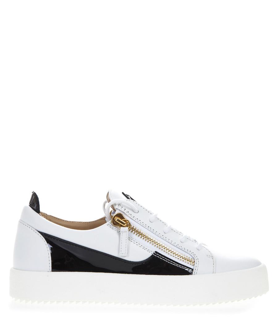 Black & white leather sneaker Sale - giuseppe zanotti