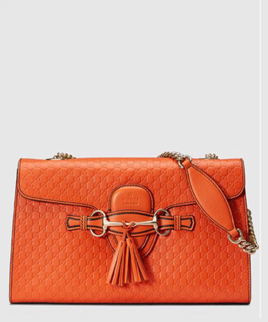 Guccissima Emily orange leather bag Sale - gucci