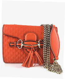 Guccissima Small Emily orange chain bag