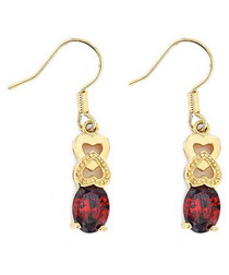 3pc 24k gold-plated ruby crystal set
