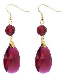 2pc 24k gold-plated ruby crystal set