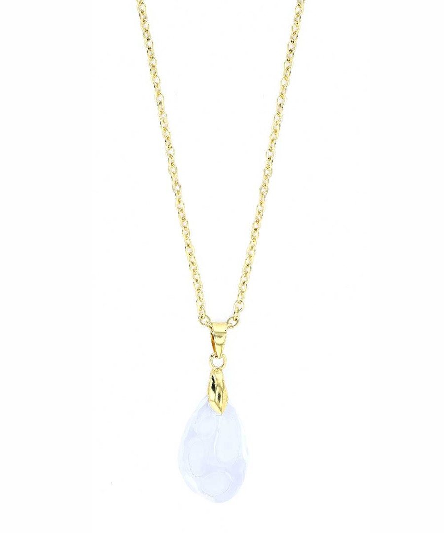 24k gold-plated crystal necklace Sale - orcea
