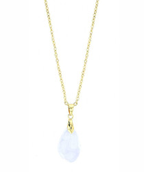 24k gold-plated crystal necklace