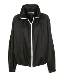 Monochrome nylon zip jacket