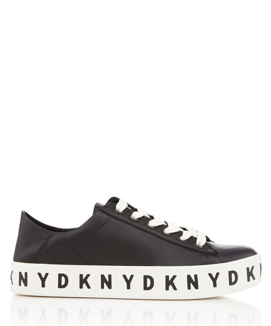 Banson black lace-up logo sneakers Sale - dkny