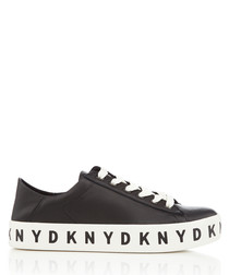 Banson black lace-up logo sneakers