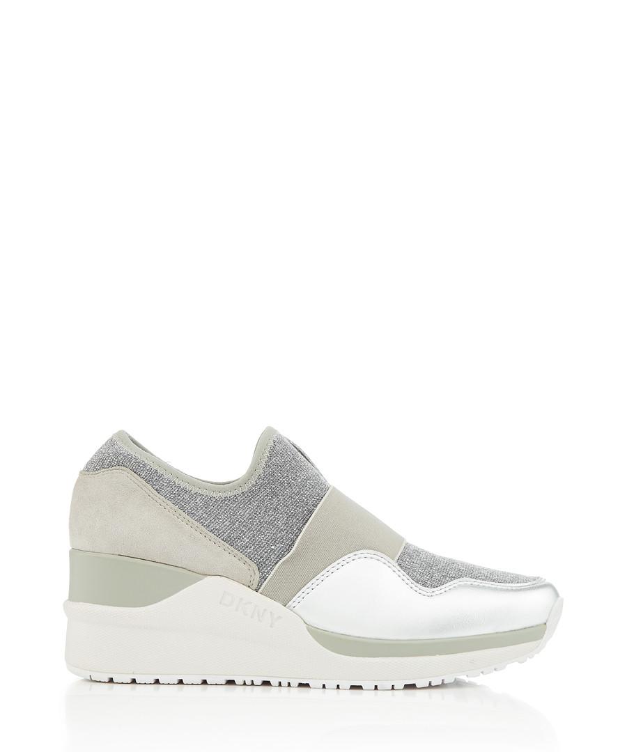 Leigh sage slip-on wedge sneakers Sale - dkny