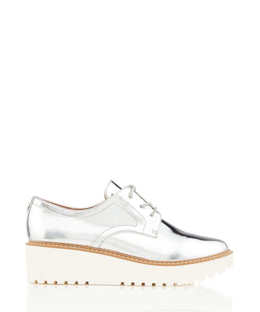 Anderson silver-tone platform sneakers Sale - dkny