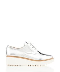 Anderson silver-tone platform sneakers
