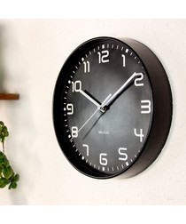 Walplus ChicTime Black 25cm Wall Clock with Silent Movement; No Ticking Sounds ; Quality Time with Q