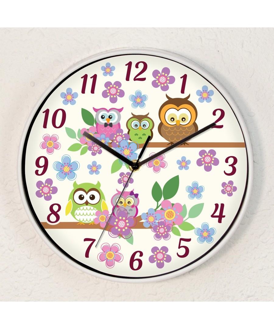 WC2081 - Curious Owls Children Clock Sale - Walplus