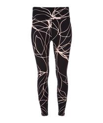 Multi-colour abstract print leggings